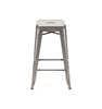 Sundsvall Clear Gunmetal Steel Stackable Counter Stool (Set Of 4) Chair