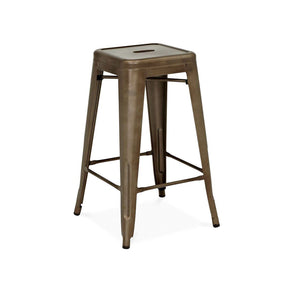 Sundsvall Rustic Matte Gunmetal Steel Stackable Counter Stool (Set Of 4) Chair