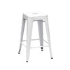 Sundsvall Glossy White Steel Stackable Counter Stool (Set Of 4) Chair