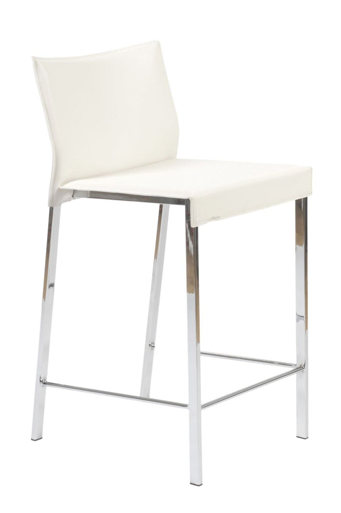 Buy Euro Style Euro 17221wht Riley Counter Stool In White With