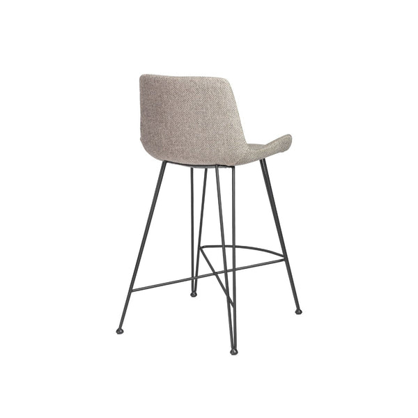 Pleasing Buy Euro Style Euro 30485Ltgry Ura C Counter Stool In Light Gray Fabric With Matte Black Legs At Contemporary Furniture Warehouse Lamtechconsult Wood Chair Design Ideas Lamtechconsultcom
