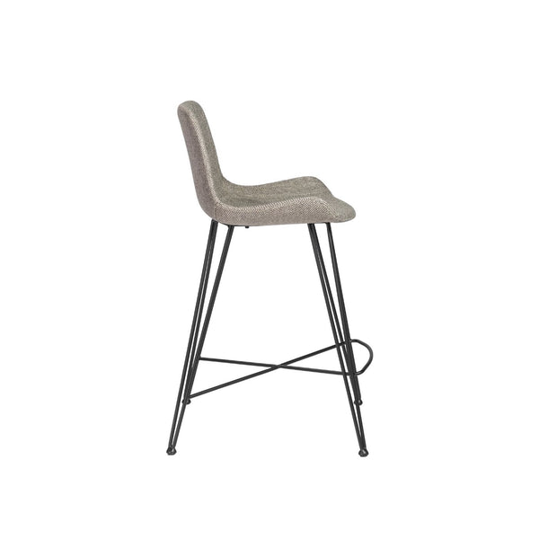 Astounding Buy Euro Style Euro 30485Ltgry Ura C Counter Stool In Light Gray Fabric With Matte Black Legs At Contemporary Furniture Warehouse Lamtechconsult Wood Chair Design Ideas Lamtechconsultcom