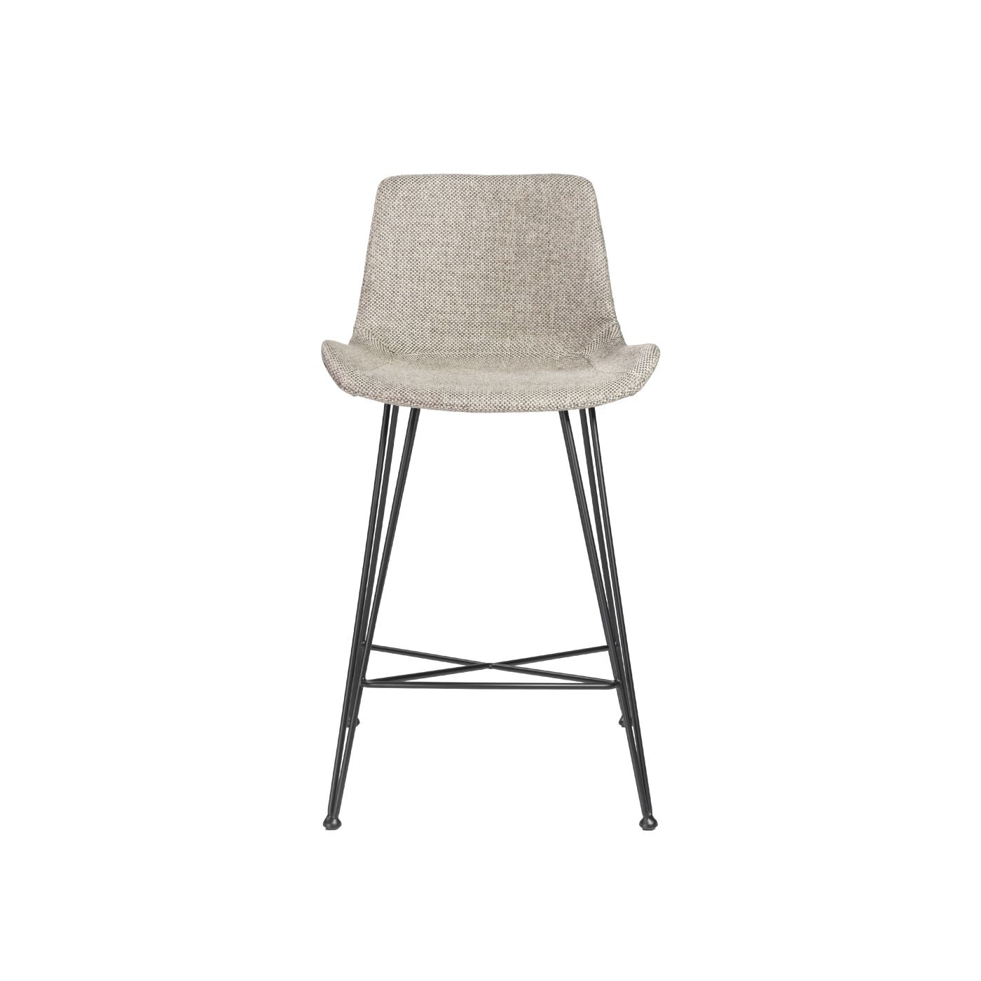 Wondrous Buy Euro Style Euro 30485Ltgry Ura C Counter Stool In Light Gray Fabric With Matte Black Legs At Contemporary Furniture Warehouse Cjindustries Chair Design For Home Cjindustriesco