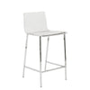 Chloe Counter Stool in Clear with Chrome Legs - Set of 2