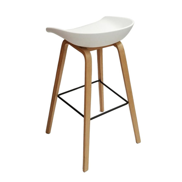 Fine Mod Imports Shen Counter Stool White At Contemporary