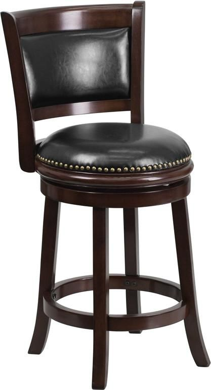 Flash Furniture 24 High Cappuccino Wood Counter Height Stool With