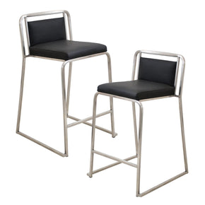 Cascade Counter Stool - Set Of 2 Black Chair