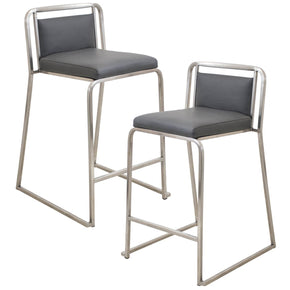 Cascade Counter Stool - Set Of 2 Grey Chair