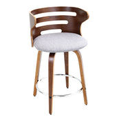 Cosini Counter Stool Walnut Grey Chair