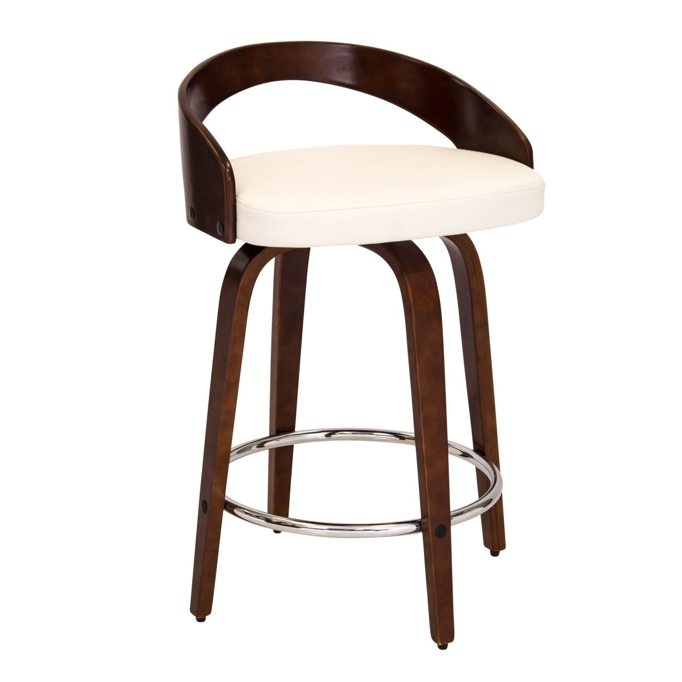 Grotto Counter Stool Cherry White By Lumisource Cs Jy