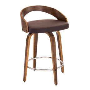 Grotto Counter Stool Walnut Brown Chair
