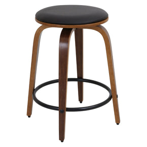 Porto Counter Stools - Set Of 2 Walnut Brown Chair