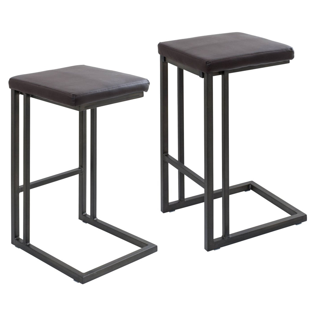 Roman counter stools set of 2 antique espresso chair