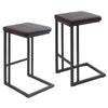 Roman Industrial Counter Stools - Set of 2 Antique, Espresso