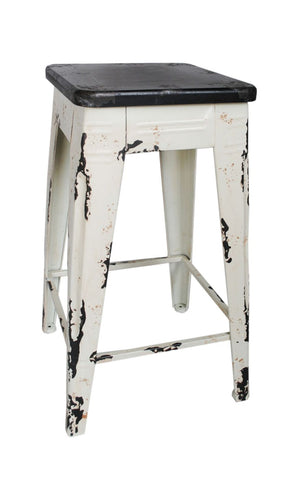 Sturdy Counter Stool White Iron Chair