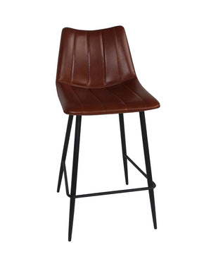 Alibi Counter Stool Brown-Set Of Two Chair