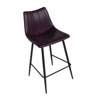 Alibi Counter Stool Purple-Set Of Two Chair