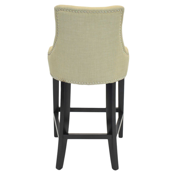 Charlotte Fabric Counter Stool Linen Chair