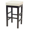 Valencia Backless Leather Counter Stool Beige Chair