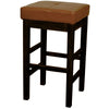 Valencia Backless Leather Counter Stool Cognac Chair