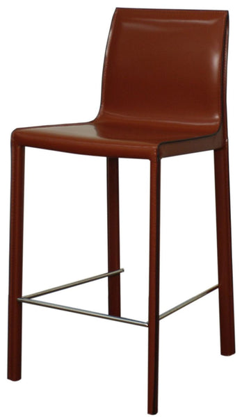 Gervin Recycled Leather Counter Stool Cordovan (Set Of 2) Chair