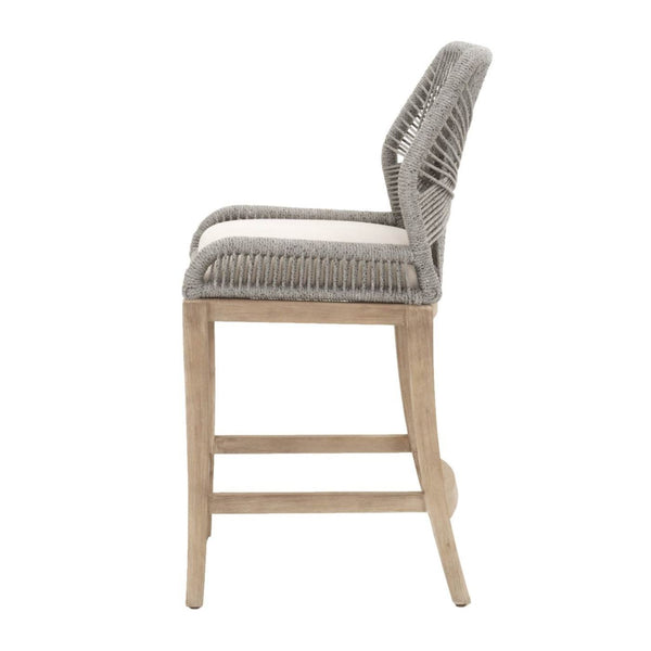 Counter Chairs - Orient Express Furniture 6808CS.PLA/LGRY Loom Counter Stool Platinum | Light Gray Cushion, Stone Wash Mahogany | 842279103019 | Only $529.00. Buy today at http://www.contemporaryfurniturewarehouse.com