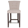 Luxe Counter Stool Almond Fabric Chair