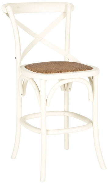 Franklin X Back Counterstool Ivory Counter Chair