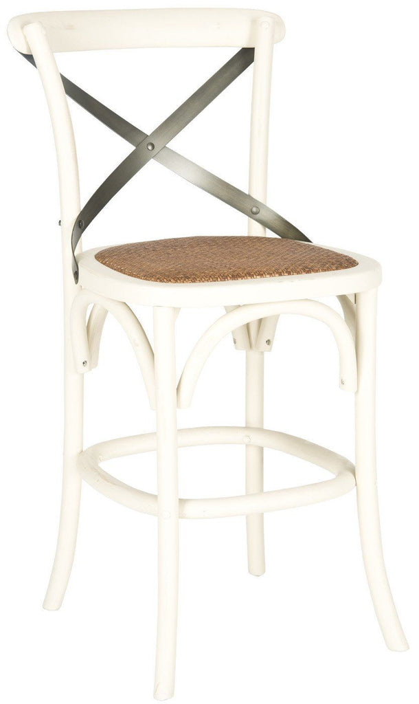 Eleanr X Back Counterstool Ivory Counter Chair