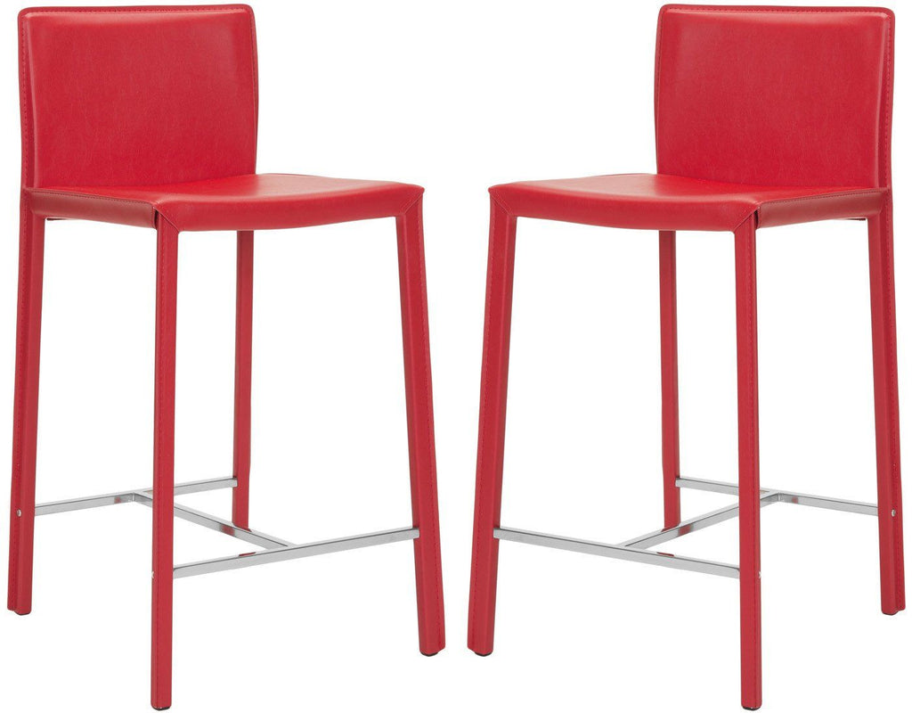 Jason 24 Counter Stool (Set Of 2) Red Chair