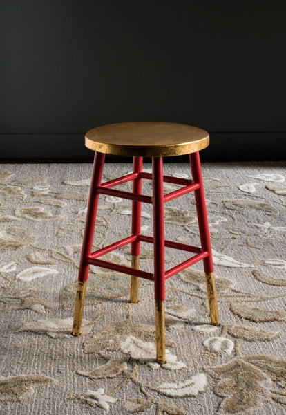 Safavieh Emery Dipped Gold Leaf Counterstool Red Gold At