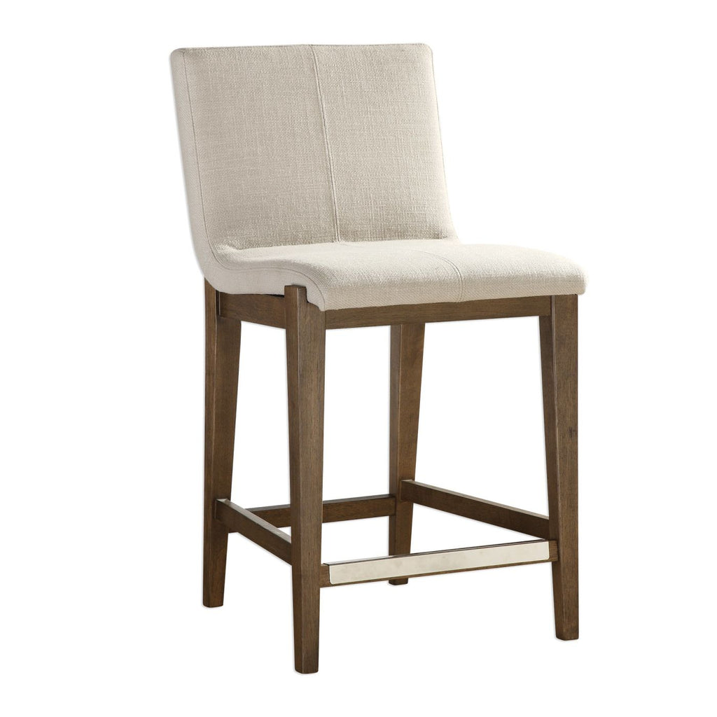 Buy Uttermost Utt 23390 Klemens Linen Counter Stool At Contemporary