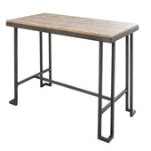 Lumisource Roman Industrial Counter Table Black / Brown Wood CT-RMN AN+BN | 681144430559| $179.98. Counter Tables - . Buy today at http://www.contemporaryfurniturewarehouse.com