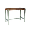 Riva Countertable Walnut Brushed Stainless Steel