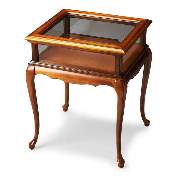 Curios - Butler Furniture BUT-1484101 Burton Traditional Rectangular Curio Table Medium Brown | 797379023647 | Only $329.00. Buy today at http://www.contemporaryfurniturewarehouse.com