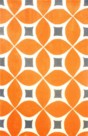 Nuloom Hand Tufted Gabriela Area Rug Deep Orange