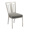 Dining Chairs - Armen Living LCCLCHGRB201 Cleo Contemporary Dining Chair In Gray and Stainless Steel - Set of 2 | 638170587467 | Only $549.00. Buy today at http://www.contemporaryfurniturewarehouse.com
