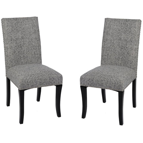 Accent Nail Side Chair In Ash Fabric (Set Of 2) Dining