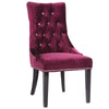 Carlyle Side Chair In Purple Velvet Dining