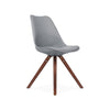 Dining Chairs - Design Lab MN LS-1000-GRYWAL Viborg Mid Century Grey Side Chair with Walnut Wood Base (Set of 2) | 638264259751 | Only $154.80. Buy today at http://www.contemporaryfurniturewarehouse.com