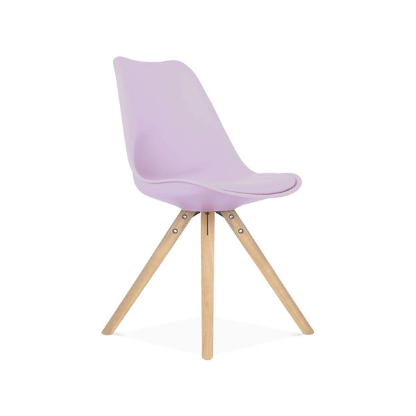 Viborg Lavender Mid Century Side Chair Natural Base (Set Of 2) Dining