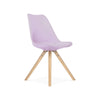 Viborg Lavender Mid Century Side Chair Natural Base (Set of 2)