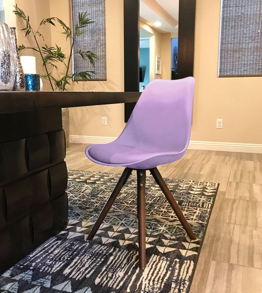 Dining Chairs   Design Lab MN LS 1000 LAVWAL Viborg Lavender Mid Century  Side