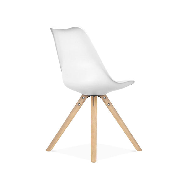 Dining Chairs - Design Lab MN LS-1000-WHTNAT Viborg Mid Century White Side Chair with Natural Wood Base (Set of 2) | 638264259720 | Only $154.80. Buy today at http://www.contemporaryfurniturewarehouse.com