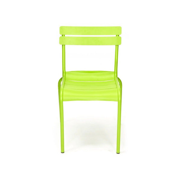Design Lab MN Chatou Lime Green Stackable Metal Side Chair (Set of 4) LS-2000-LIM | 638264260061| $254.80. Dining Chairs - . Buy today at http://www.contemporaryfurniturewarehouse.com