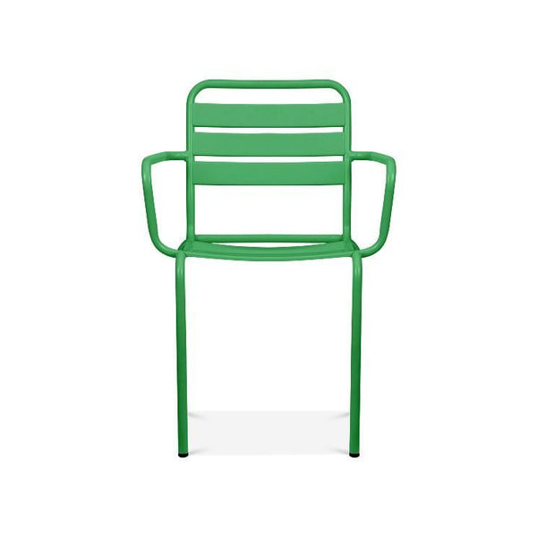 Paris Green Metal Stackable Arm Chair (Set Of 4) Dining