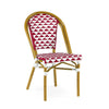 Dining Chairs - Design Lab MN LS-3003-REDWHT Versailles Aluminum Bamboo Stackable Side Chair | 655222620736 | Only $159.80. Buy today at http://www.contemporaryfurniturewarehouse.com