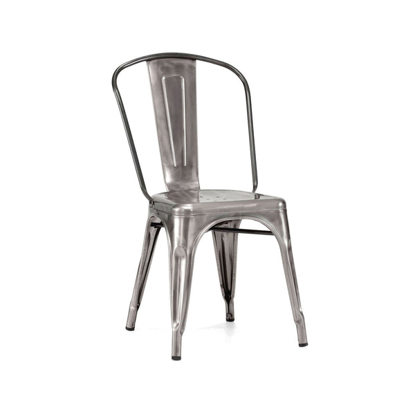 Design Lab MN Sundsvall Stackable Clear Gunmetal Steel Side Chair (Set of 4) LS-9000-GUN | 637262593256| $244.80. Dining Chairs - . Buy today at http://www.contemporaryfurniturewarehouse.com