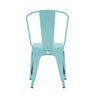 Sundsvall Stackable Matte Cyan Steel Side Chair (Set Of 4) Dining