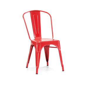 Sundsvall Stackable Glossy Red Steel Side Chair (Set Of 4) Dining